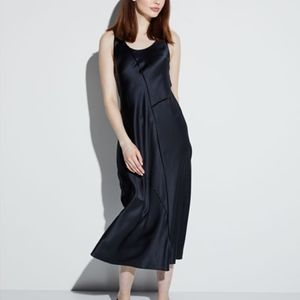 Vince Raw-edge Silk Tank Slip dress